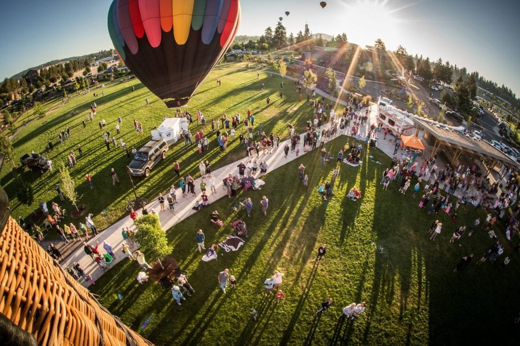 Balloons Over Bend Photo