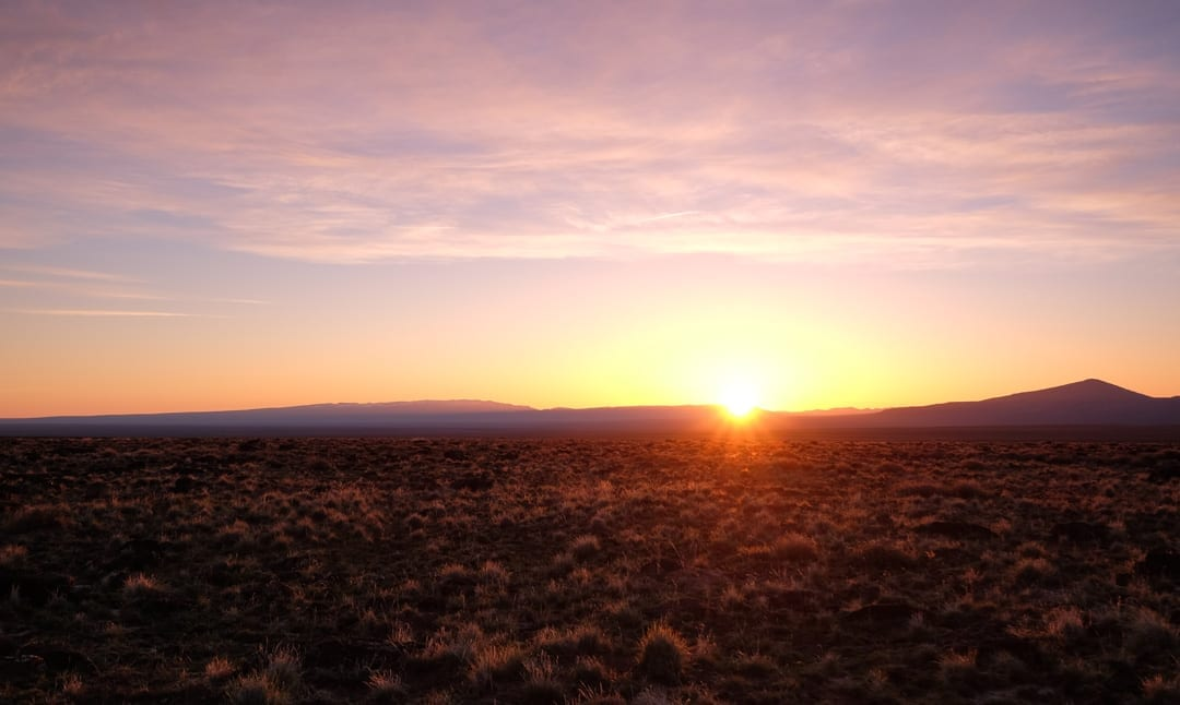 sunrise in the Oregon outback