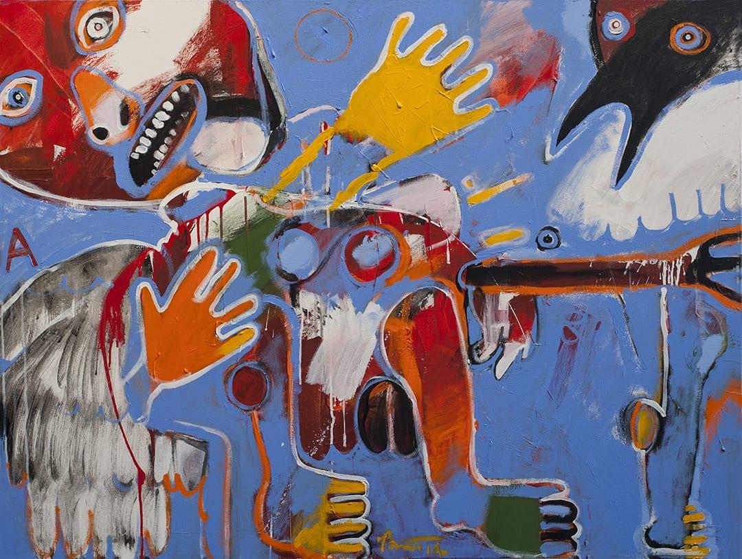 Rick Bartow exhibit at the High Desert Muesum in Bend, Oregon