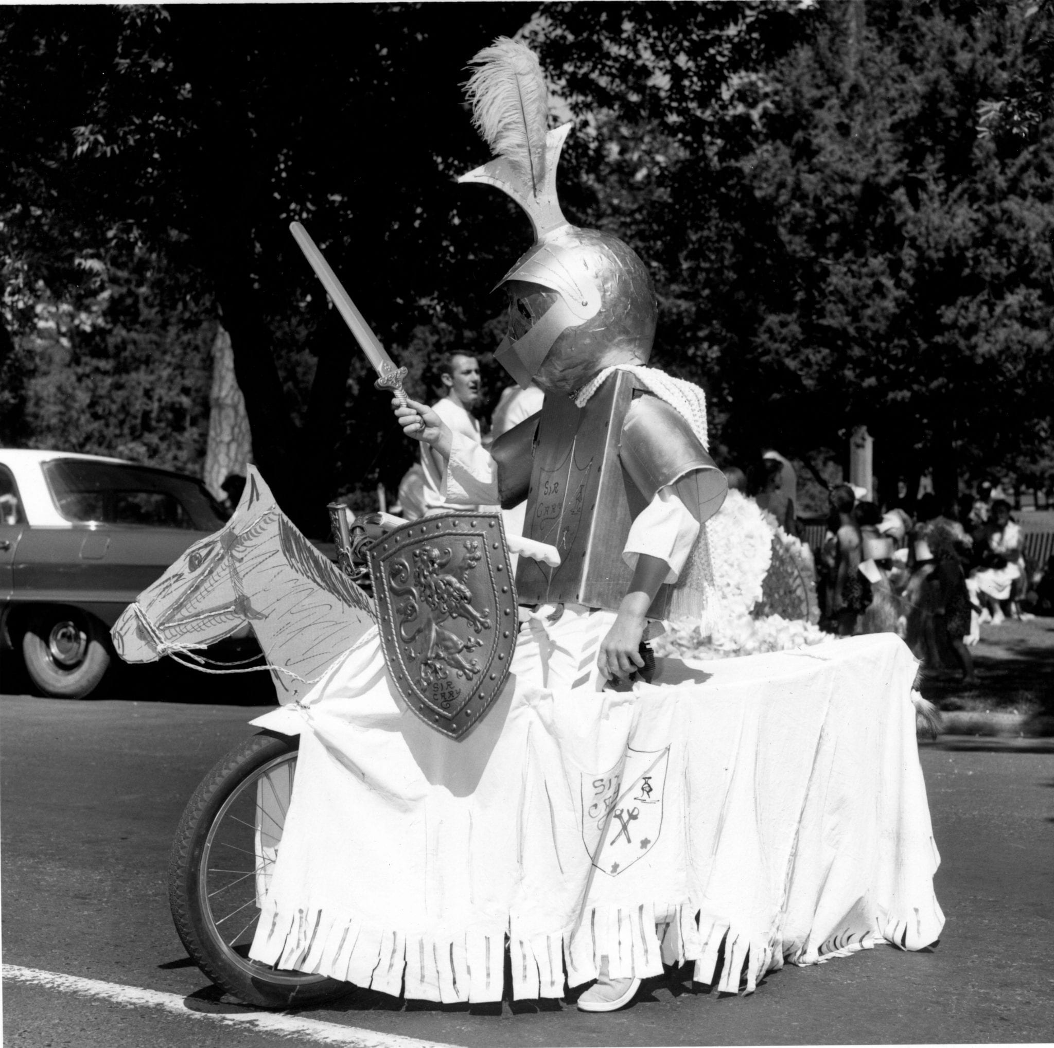 A knight in shining armor from the 1953 parade.