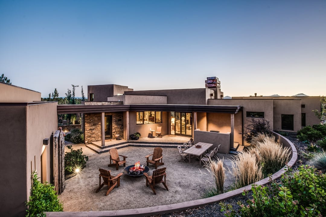 Southwest style home near bend, Oregon