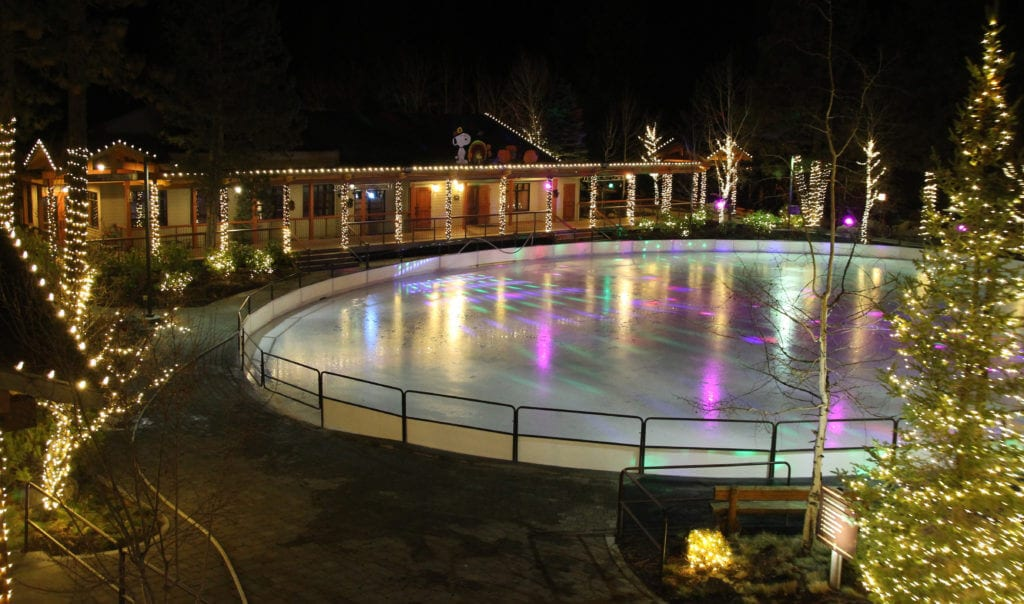 Ice skating at 7th Mountain Resort