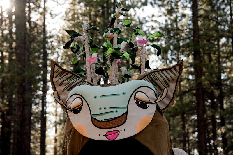 The Forest Guardian -photo by Carol Sternkopf - Earth Day Parade with The River Guardian
