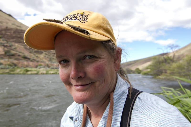 Fly-fishing angler Amy Hazel