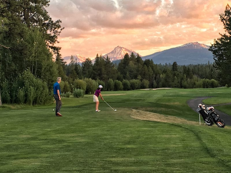 Golfing at Black Butte Ranch in Sisters, Oregon.