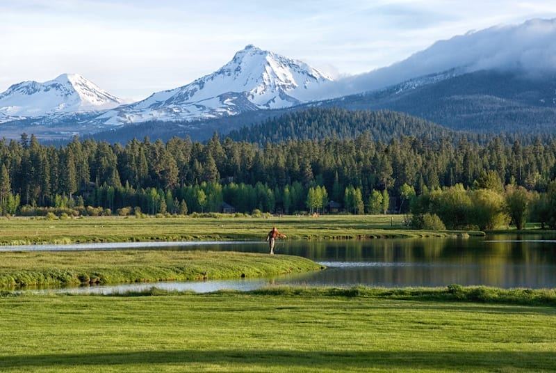 Fly-fishing at Black Butte Ranch in Sisters, Oregon.