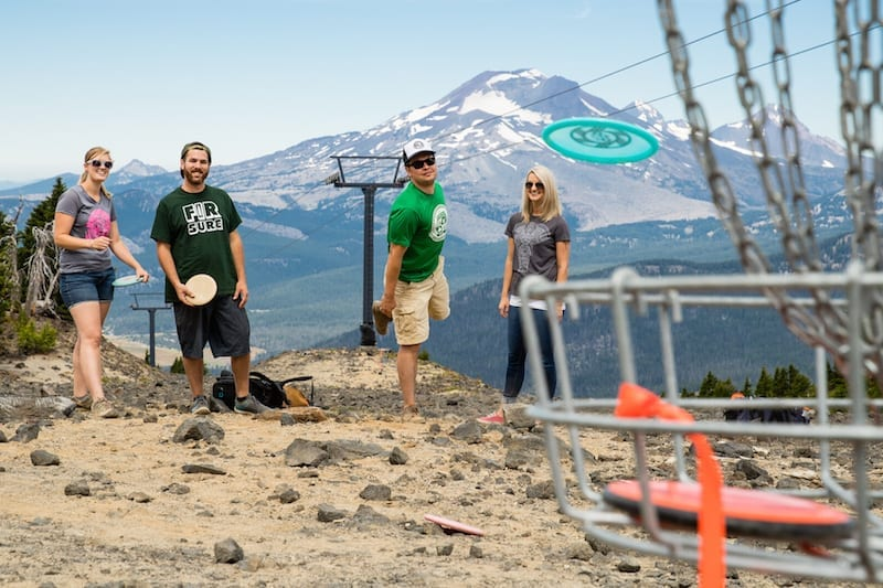 Mt. Bachelor summer disc golf course in Bend, Oregon.