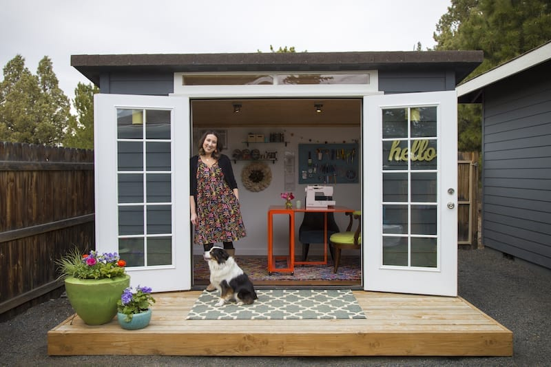 Valerie Yost's she shed in Bend, Oregon.
