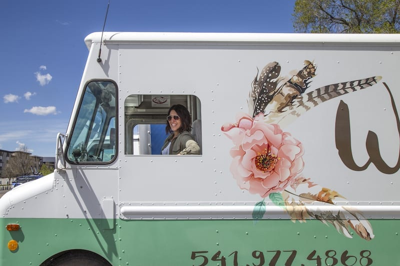 Mariah Young drives her Bend fashion truck, Wildflower Mobile Boutique