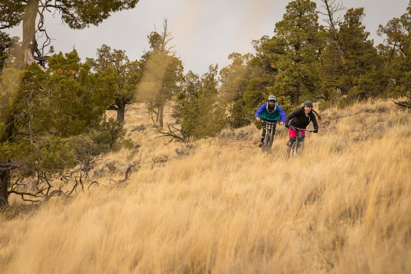 Mountain biking trails for beginners in Bend, Oregon.