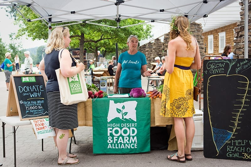 High Desert Food and Farm Alliance at the Bend, Oregon farmers' market
