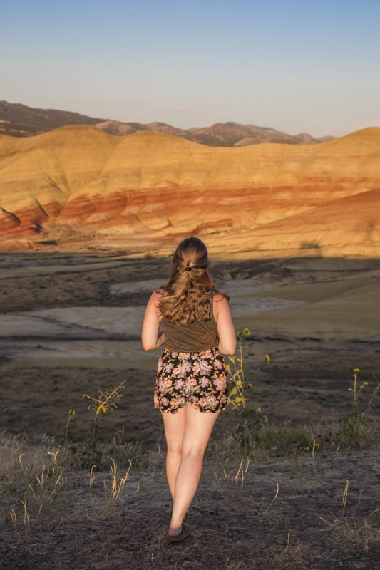 The Painted Hills at sunset in Eastern Oregon.