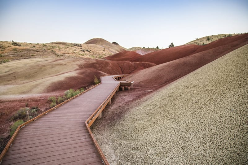 The Paradise Cove trail at the Painted Hills in Eastern Oregon.