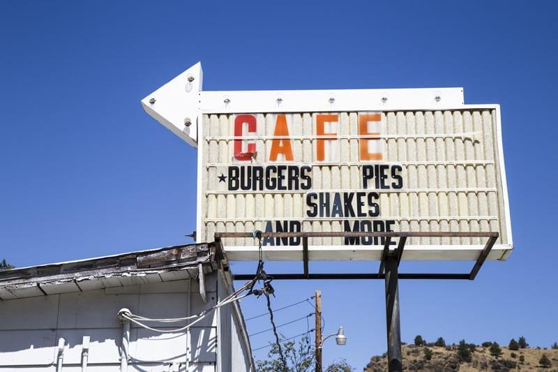 The Sidewalk Cafe in Mitchell in Eastern Oregon.