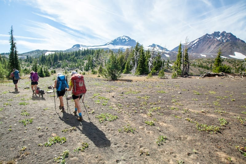 Backpacking on the Pole Creek Trail in the Three Sisters Wilderness