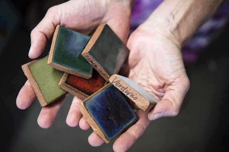 From Her Studio In Bend, She Cuts The Tile, Hand Glazes Each Piece And  Fires Them In Her Kiln. She Uses Only Red Quarry Tile Because U201cit Enlivens  Glazes ...