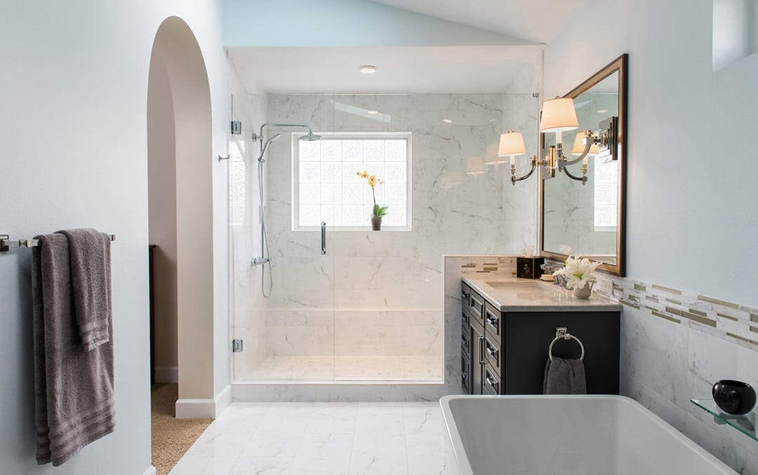Master bathroom design in Bend, Oregon