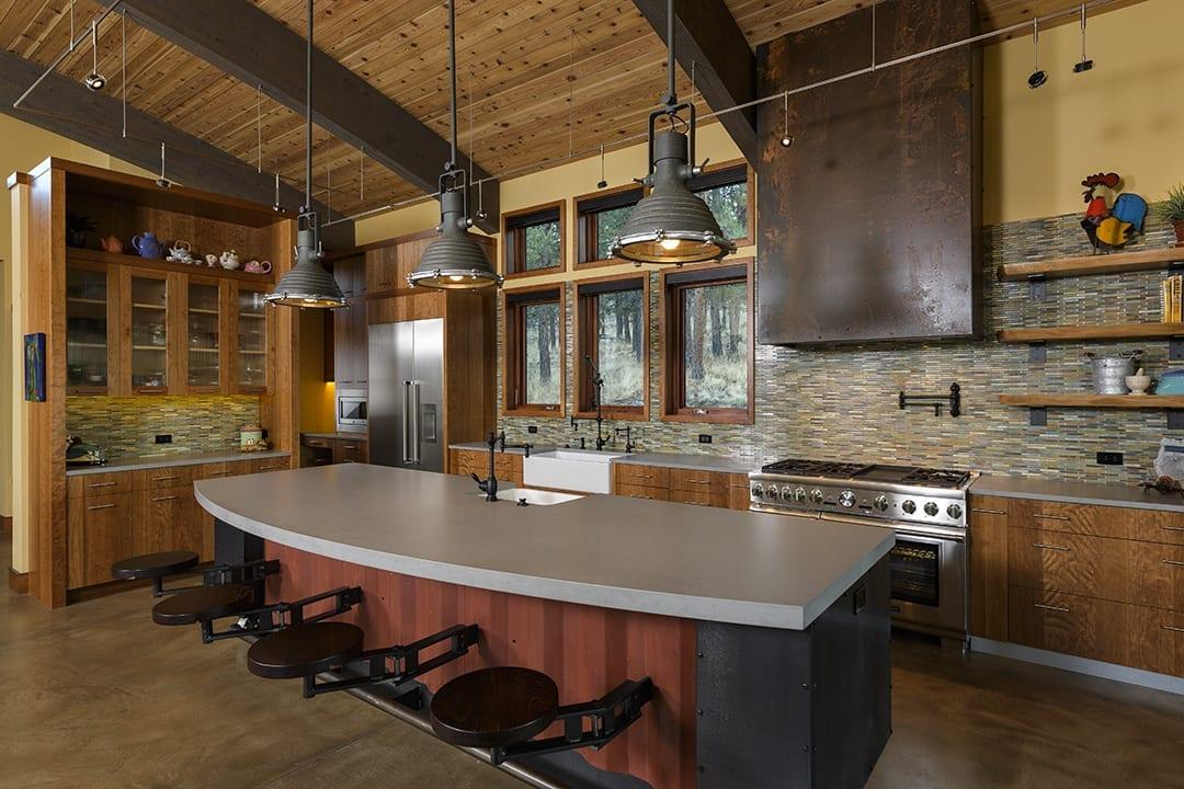 Urban industrial home design in Bend, Oregon