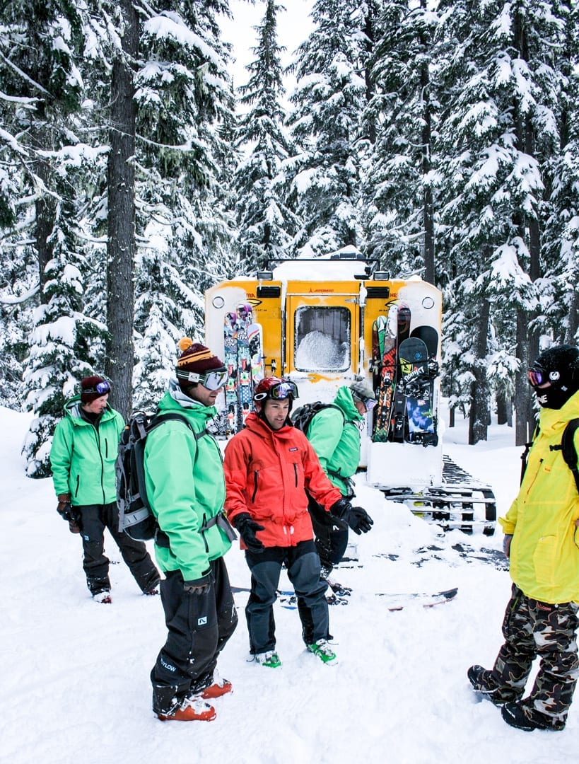 Cat skiing at Mt. Bailey near Bend, Oregon