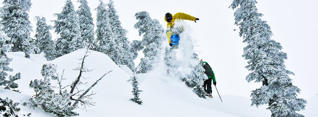 Backcountry snowboarding at Mt. bailey near Bend, Oregon