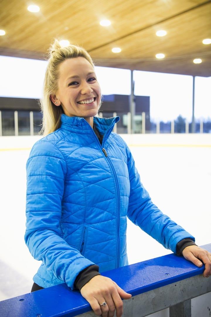 Figure skating instructor Rebecca King in Bend, Oregon