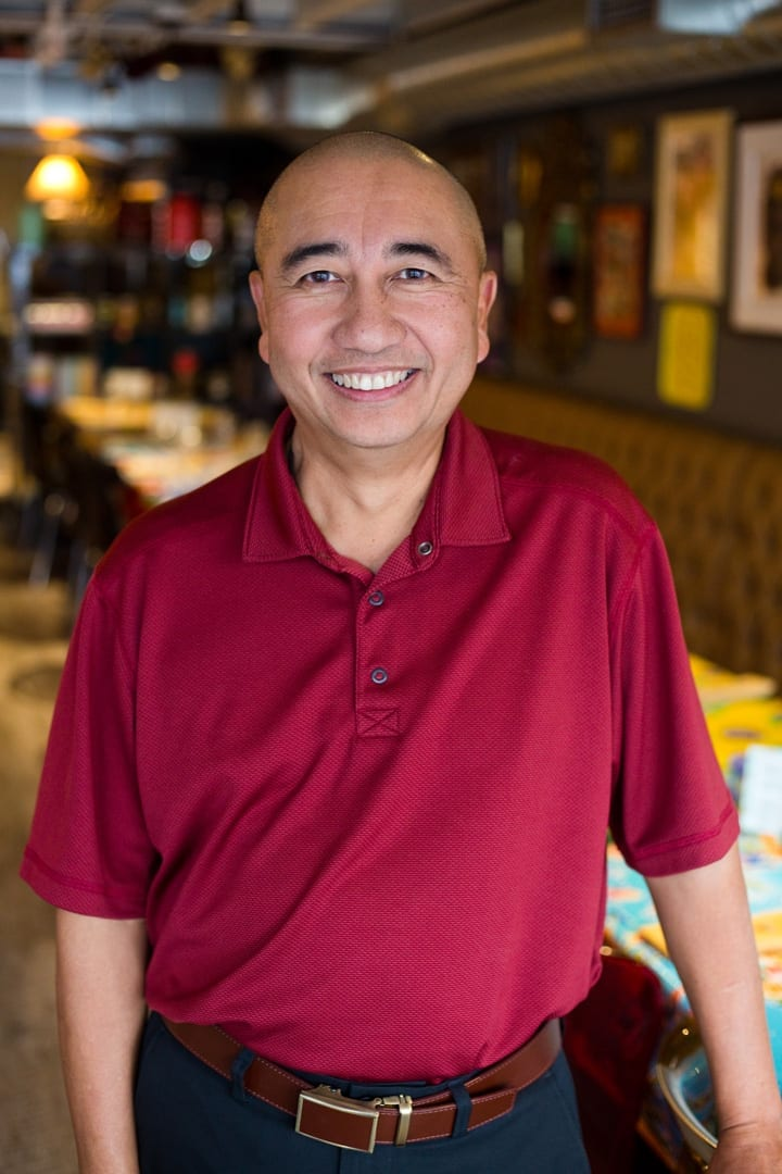 Paul Itti the chef of Wild Rose thai restaurant in Bend, Oregon