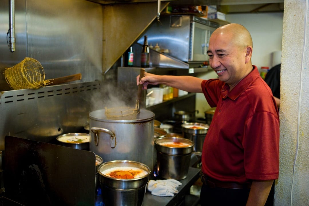 Paul Itti the chef of Wild Rose thai restaurant in Bend, Oregon