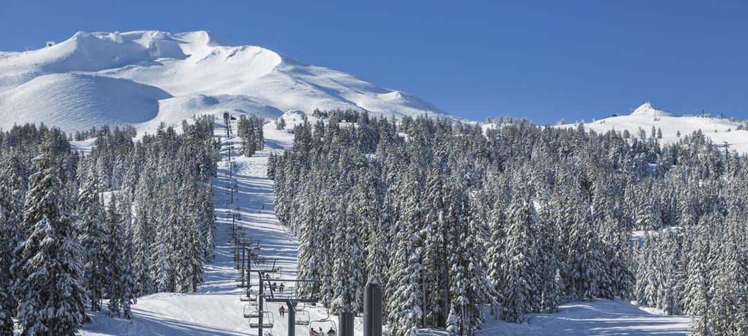 Winter skiing and training at Mt. Bachelor near Bend, Oregon