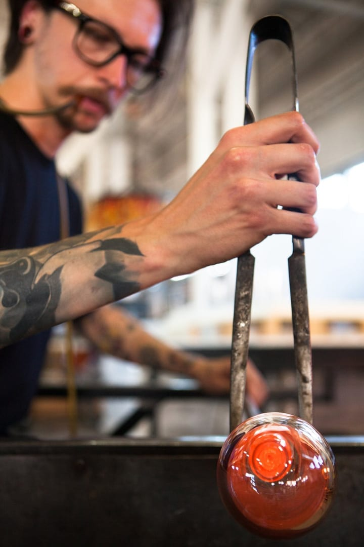 Glass blowing North Drinkware in Bend, Oregon