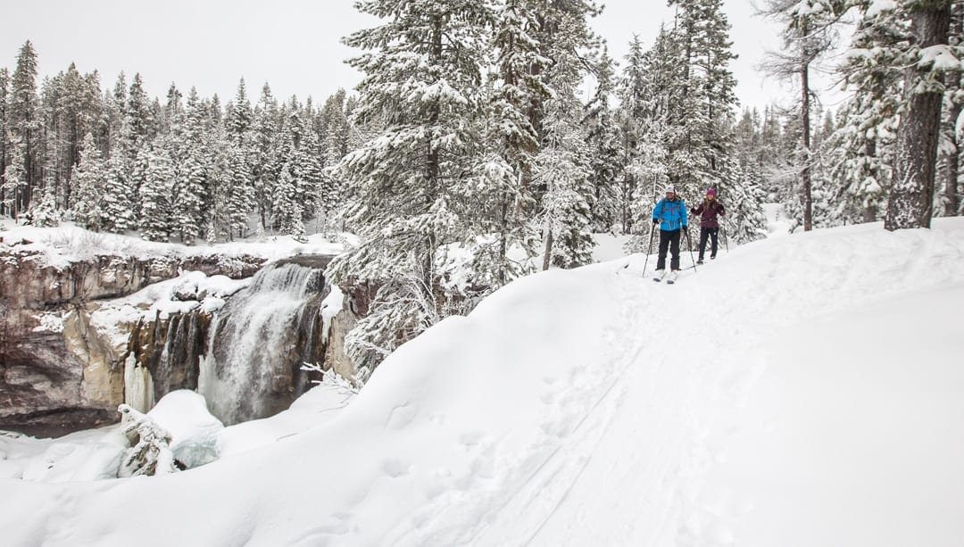 Winter getaway at the Newberry Crater and skiing at Paulina Falls in Central Oregon
