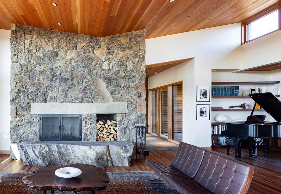 Architecture and home design interior for the Kalorama home near Bend, Oregon