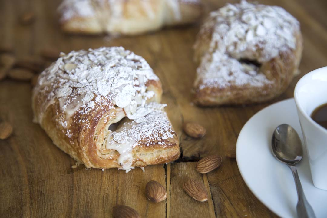 Almond Croissant from Nancy P's Café and Bakery in Bend, Oregon
