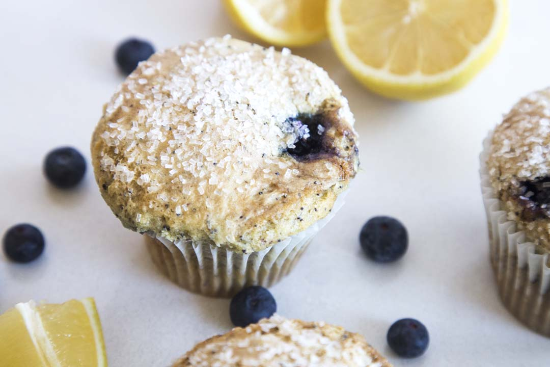 Gluten-Free Lemon Blueberry Poppy Seed Muffin from Too Sweet Cakes in Bend, Oregon