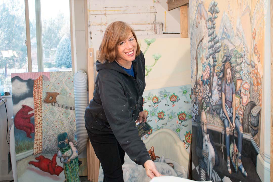 Painter Paula Bullwinkel in Bend, Oregon
