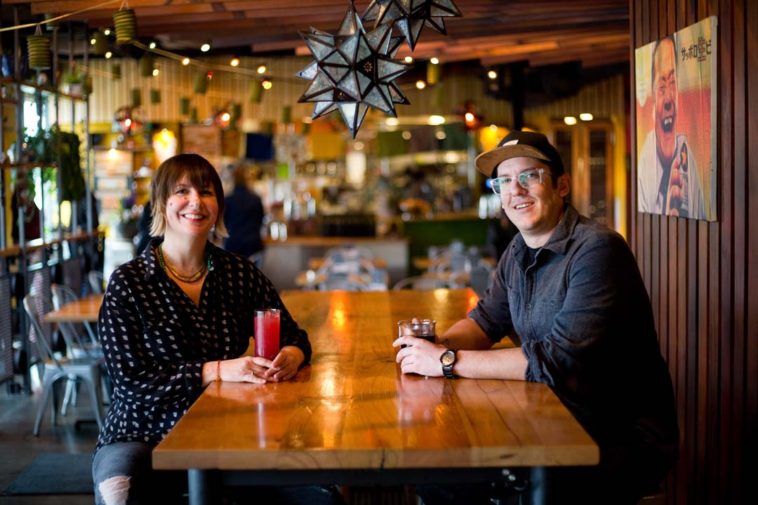 Owner Erica and Chef Jeff of Spork restaurant in Bend, Oregon