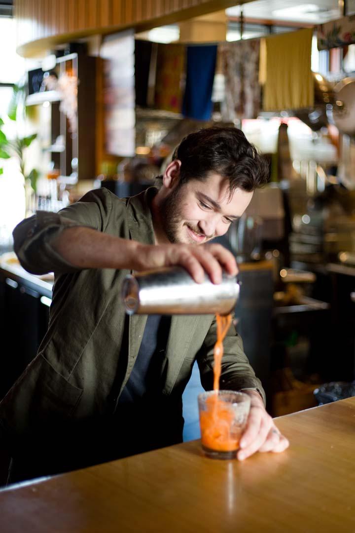 Cocktail creation at Spork restaurant in Bend, Oregon