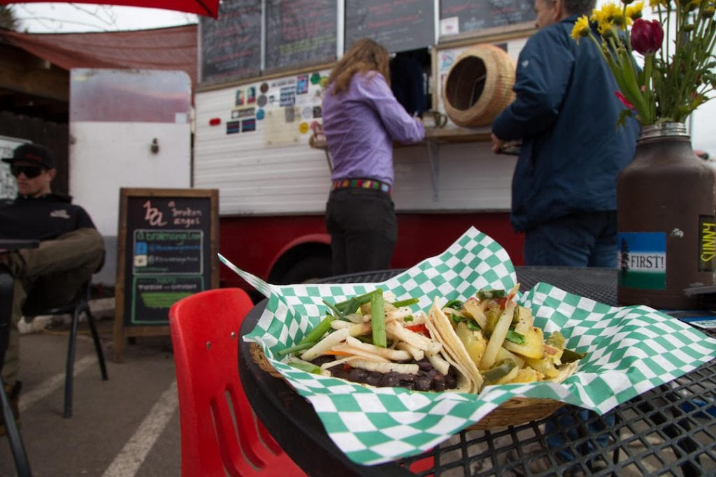 A Broken Angel vegan food truck in Bend, Oregon