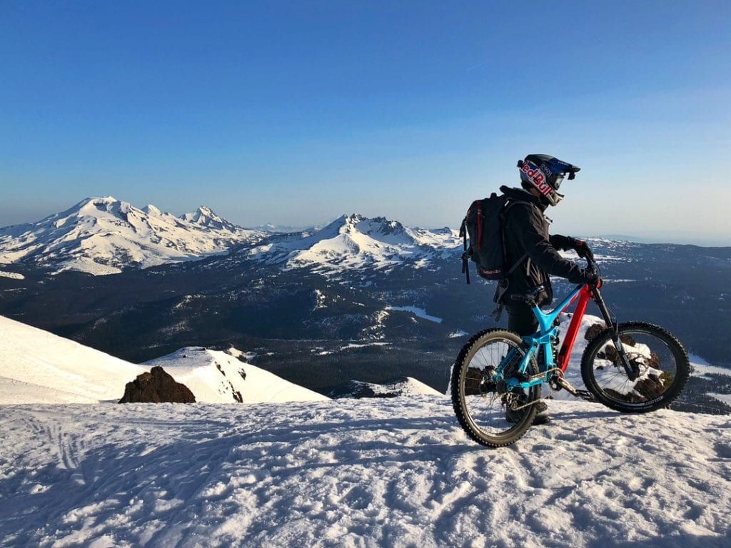 snow bike ride this winter in Bend, Oregon