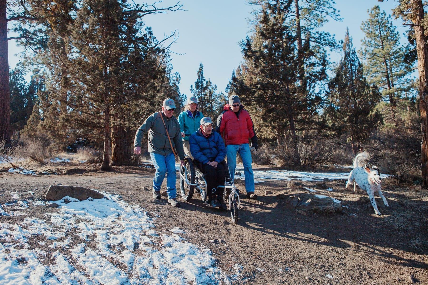 AdvenChair all-terrain wheelchair in Bend, Oregon