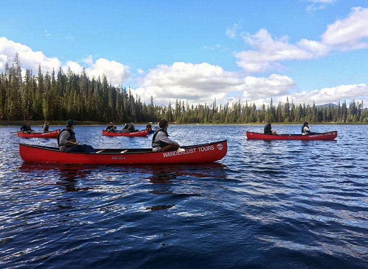 Daytime Canoeing with Wanderlust Tours in Bend, Oregon