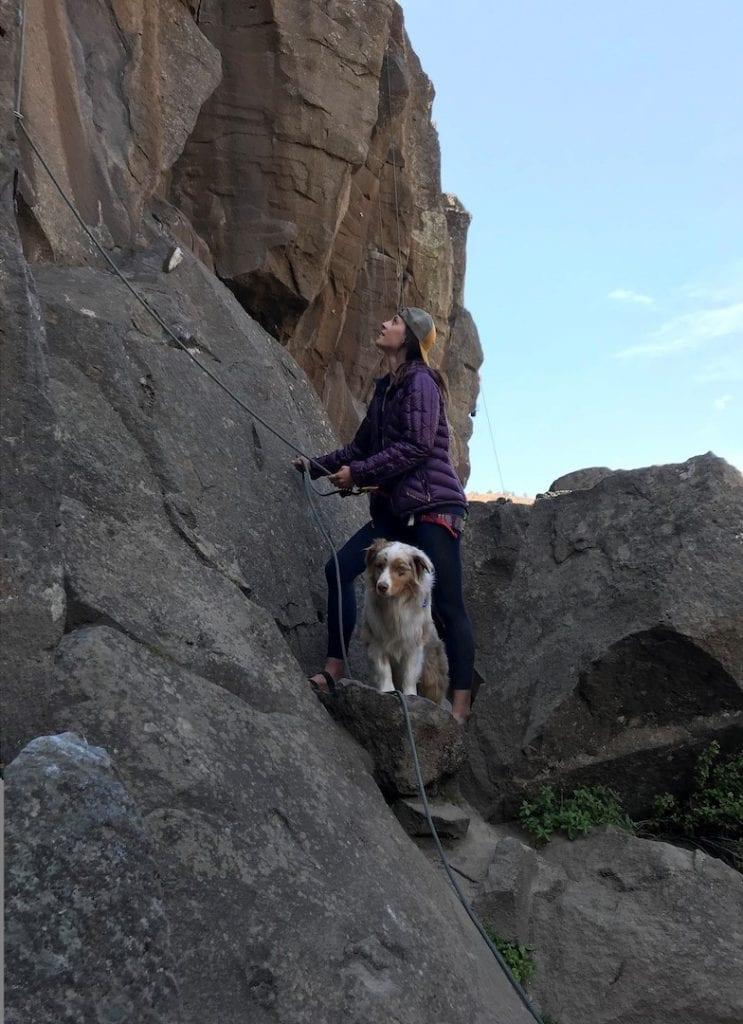 Erika Nuetzel climbing at Smith Rock