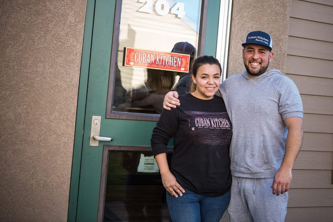 Cristina and Chris Rojas owners of Cuban Kitchen restaurant in Bend, Oregon