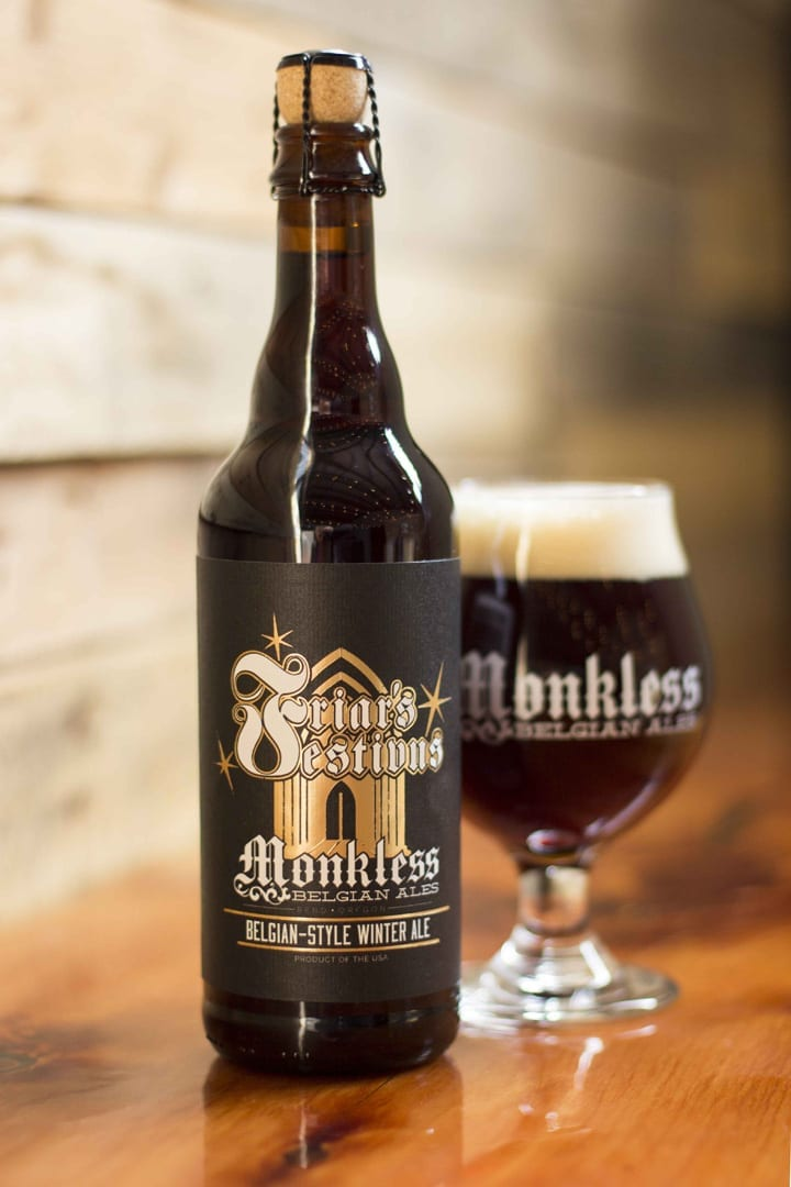 Winter beer Friar's Festivus from Monkless Brewing