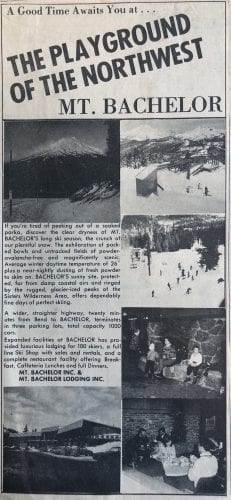 Mt Bachelor Playground of the Northwest