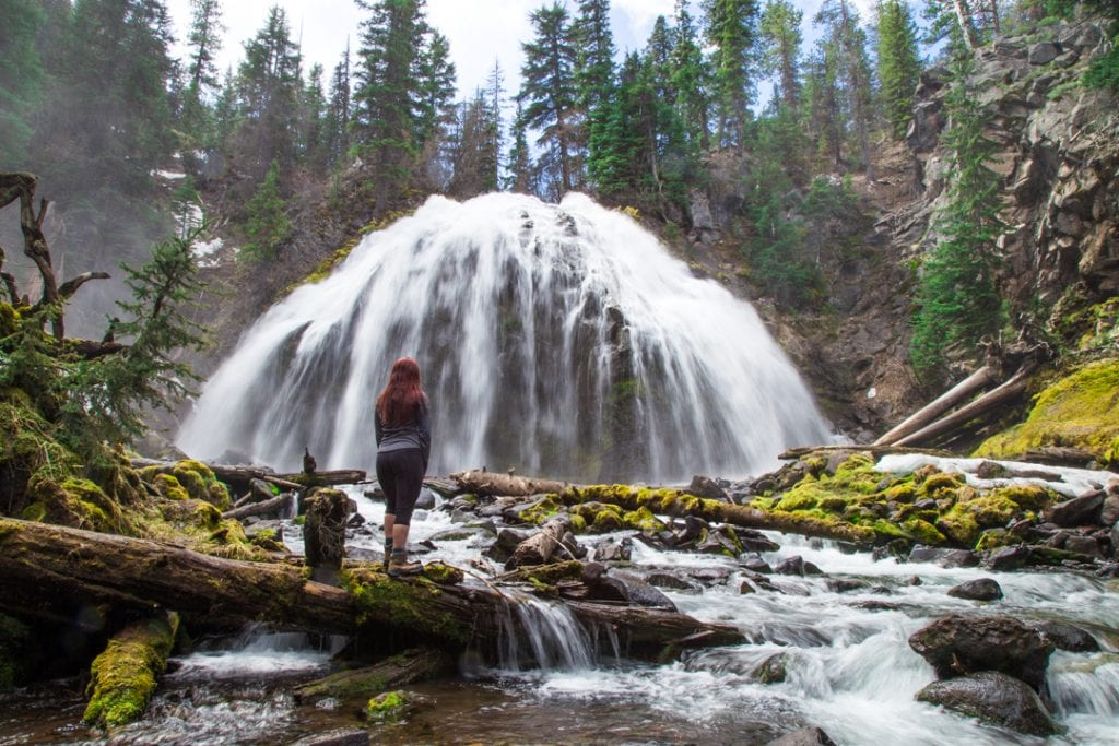 Hiking to Chush Falls in the Three Sisters Wilderness