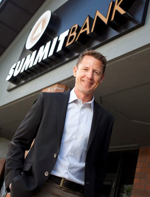 Summit Bank's Gary O'Connell in Bend, Oregon