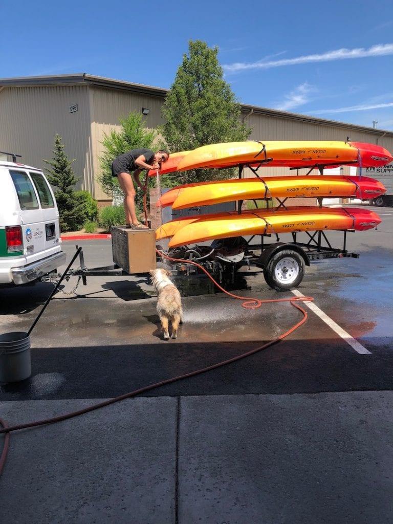 Kayaks at Wanderlust Tours in Bend, Oregon