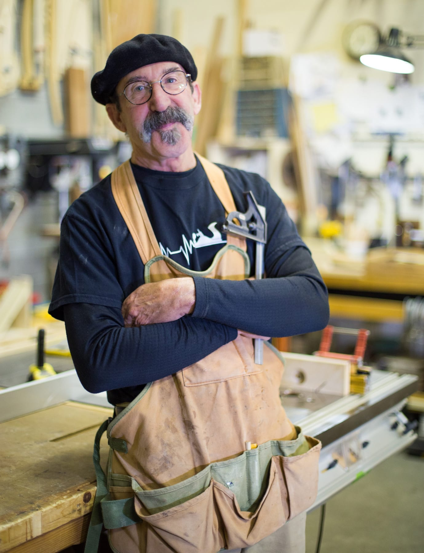 Woodworker and maker Thom Marchionna in Bend, Oregon