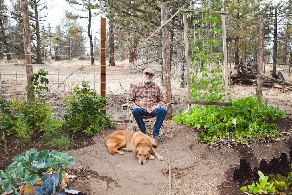 Dennis McGregor Backyard and Dog