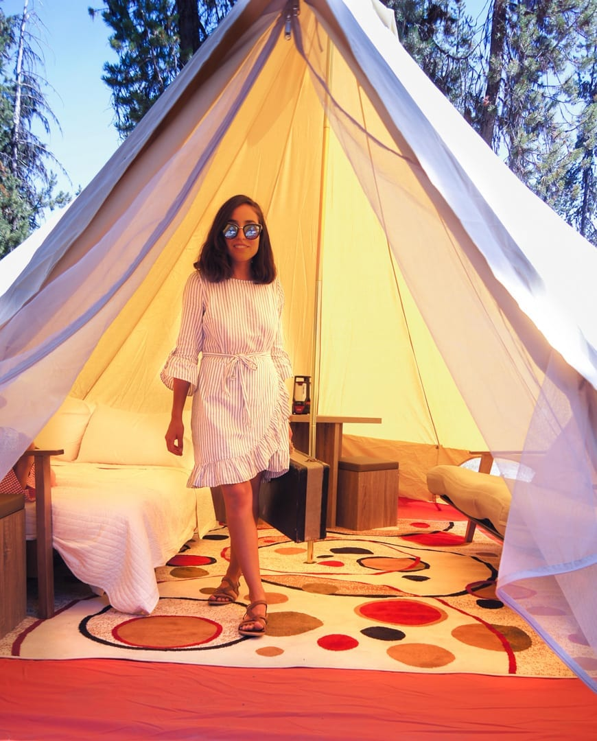 Glamping tents at elk lake resort